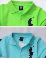 12 new Korean summer children's clothing boy lapel T-shirt cotton short-sleeved T-shirt