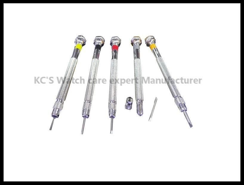 Высокое Качество 5 шт. Двойные Биты-0.8 мм до 1.6 мм Мини Шлицевая Набор Прецизионных Отверток Ремонт Часов Набор инструментов GC06-SD-013