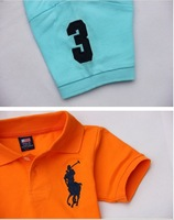 12 new Korean summer children's clothing boy lapel T/shirt cotton short/sleeved T/shirt