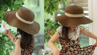 Шапка для мальчиков Baby sweet big edge straw hats, fashion kid's sun hat, fashion children can changed shape Caps