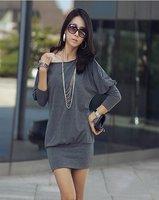 Женская футболка new fashion women outerwear t shirt sexy mini dress Leisure dress outdoor coat cotton shirts