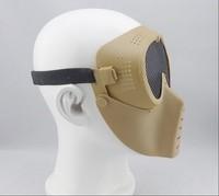 Товары для спорта Outdoor Sports CS Survival War Game Metal Mesh Flies Proof Bulletproof Movie Prop Goggle Full Face Mask Visor