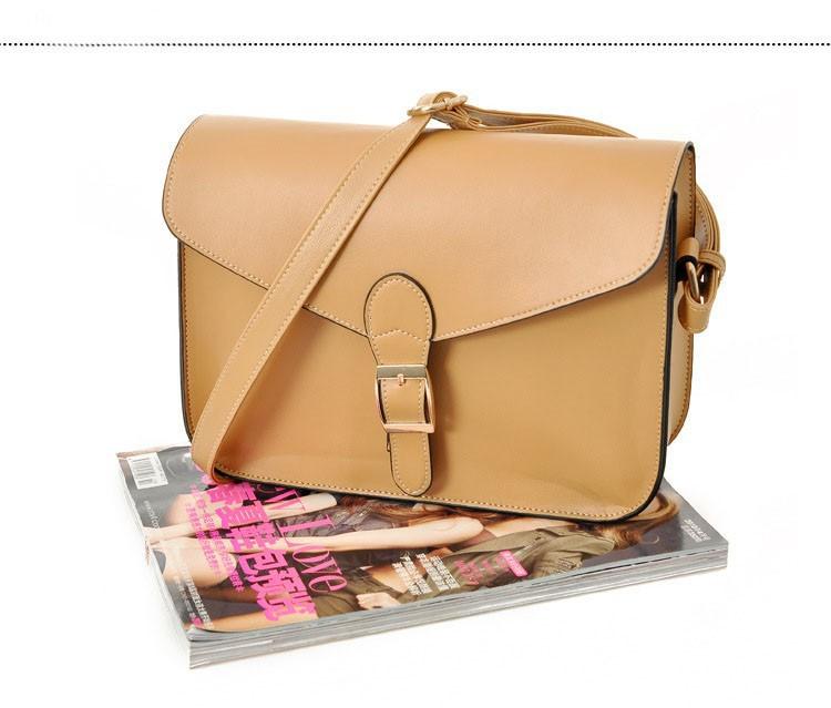 2Pcs Korea Style Envelope Single Shoulder Bag Khaki PU Leather