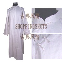 Chinese long gown clothing traditional clothes 084103 white