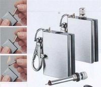 [Free shipping] New Camping  Military waterproof, stainless steel million times matches