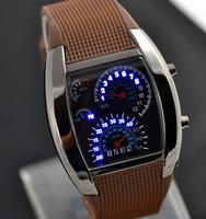 TVG часы 6colors водить мужчины супер Цифровые Часы tvg подарок синий свет матричные часы водолаз