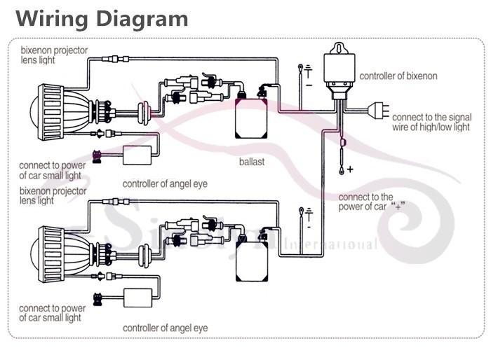 Wiring Diagram Angel Eye Spotlights : Bi xenon hid led cob angel eyes headlight projector