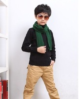 Свитер для девочек Children Winter Must Have Elastic Turtleneck Sweater Boys Girls Basic 100% Cotton Knittedwear Pullover