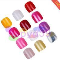 5set ногтей аксессуары факультативного акриловых ногтей искусство ложных поддельные ногтей советы поддельные ногти для новобрачных ногтя без клея 12шт/набор