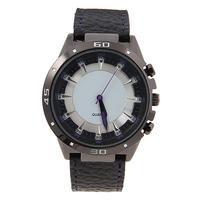унисекс кварцевые наручные часы с черным ремешком водостойкий круглый циферблат формы