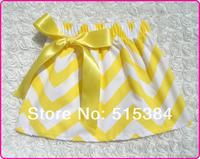 юбка плиссе Шеврон желтые и белые собрались и плиссированные юбки девушки день рождения chervon юбка 5size 12pcs/lot