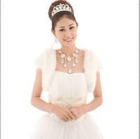 Свадебная накидка White Ivory Black Faux Fur Bridal Evening Shawl/Cape/Stole/Bolero/Wrap/Jacket A1