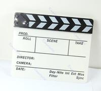 Потребительская электроника Acrylic Clapperboard Director TV Film Movie Cut Action Scene Clapper Board Slate