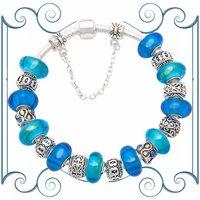 Медицинский бандаж Silver ocean heart charm bracelet B61