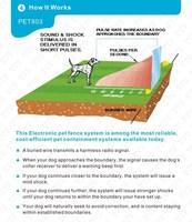 Товары для дрессировки собак Newest Smart Electric Underground Dog Fence, Invisible Boundary Control Pet Fencing System Adjustable Dog Collar