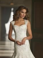 Ремни элегантные атласные с кружевной аппликацией бисером современные свадебные платья