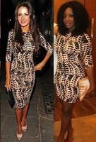 Женское платье Hot Sell Womens Tribal Celeb Animal Leopard Print Long Midi Pencil Ladies Bodycon Dress