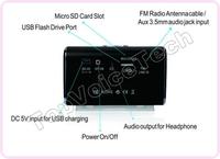 30pcs/много оригинальных nizhi tt6 мини портативный мультимедийный музыкальный плеер Поддержка tf, u диск, fm, водить, производство распространять