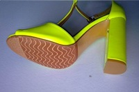 new arrive ,women shoes for summer,fashion elegant lady high heel Fluorescent color sandals,women sex squar  heel shoes