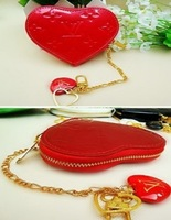Кошелек Women's purse, coin purses heart type wallet PU purse bag mix colour