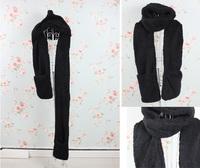 Женские шарфы, Шапки, Комплекты Warm winter scarf / gloves / hats / three-piece set