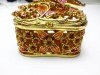 Шкатулка для хранения ювелирных изделий new butterfly bronze plated pewter Alloy metal jewelry box