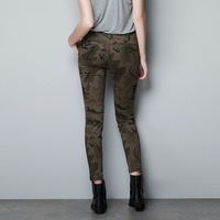 Женские джинсы Women Fashion Style Camouflage Pants Womens Skinny Pants Sexy Trousers