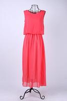 Богемия плиссированные волна кружевной ремень принцесса шифона макси длинные платье, 4 цвета 1 шт