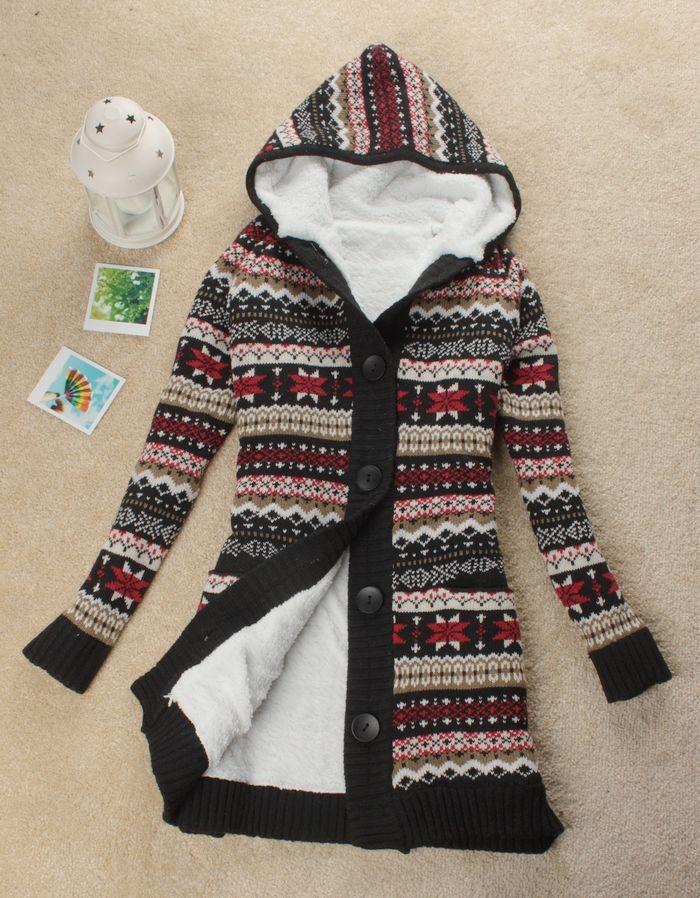 вязаный свитер с капюшоном женский доставка