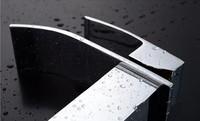 Новый Латунь хром водопад ванной раковина смеситель кран смеситель на одно отверстие a7402