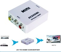 HDMI New MINI CVBS AV to HDMI converter adapter with R/L audio input for DVD/TV/HDTV/VHS/Camcorder/Gamebox/Projector