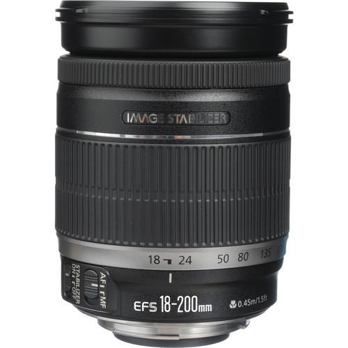 Canon 18-200 IS Lens EF-S 18-200mm f/3.5-5.6 IS Lenses for  600D 650D 700D 750D 760D 60D 70D 80D 7D Rebel T3i T4i T5i