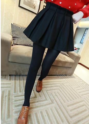черная юбка солнце с завышенной талией