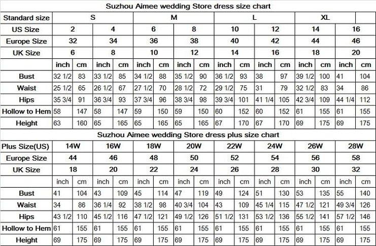 Prom dress size calculator