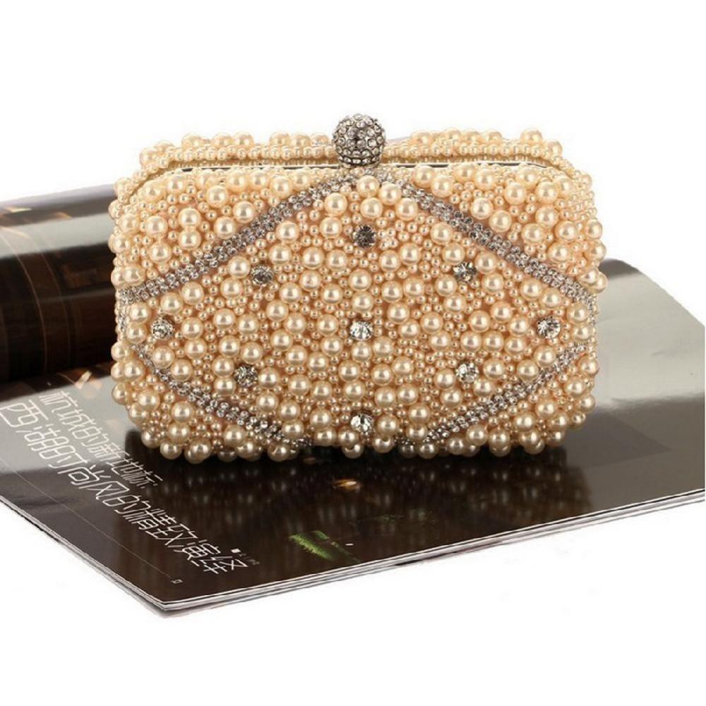 Bolsa De Perola Aliexpress : Handmade p?rola beads rhinestone evening partido prom