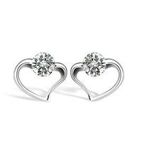 Серьги-гвоздики 925 sterling silver stud earrings R284/R285 925 CZ