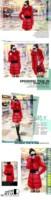 Женские пуховики, Куртки 2013 Winter New Thick Women Long Down Jacket Faux Fur Collar Five Colors