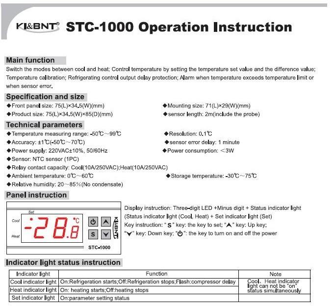 willhi wh1436a temperature controller manual