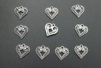 Пакетики для ювелирных изделий 50Tibetan Silver Crafted Heart Charms 50s/bag