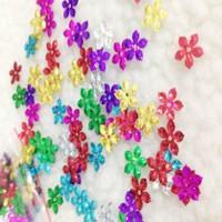 Танцевальная одежда материал 10мм лазер блестка цветок-образный блестки