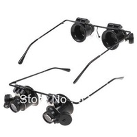 Инструменты для ремонта часов New 30Pcs/lot Black 20X Magnifier Magnifying Glass Loupe LED Light Watch Jeweler Repair Eyeglasses Drop Shipping