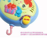Hot sale colorful baby toy bee shape musical recreation ground baby mobile 1pc