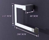 Кольцо-Держатель для полотенца shipping hot sell bathroom accessory square brass towel ring