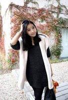 Новый осенний женщин новый досуг рукавов меха с капюшоном куртка плюшевые шляпу меха жилет с поясом