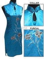 Женская юбка Flower brocade Cheong-sam -reail Chinese bule Feast