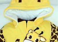 """новый ребенок дети зима теплая комбинезон+обувь+шляпа комбинезон корова """"Битлз"""" боди детская одежда для s28"""