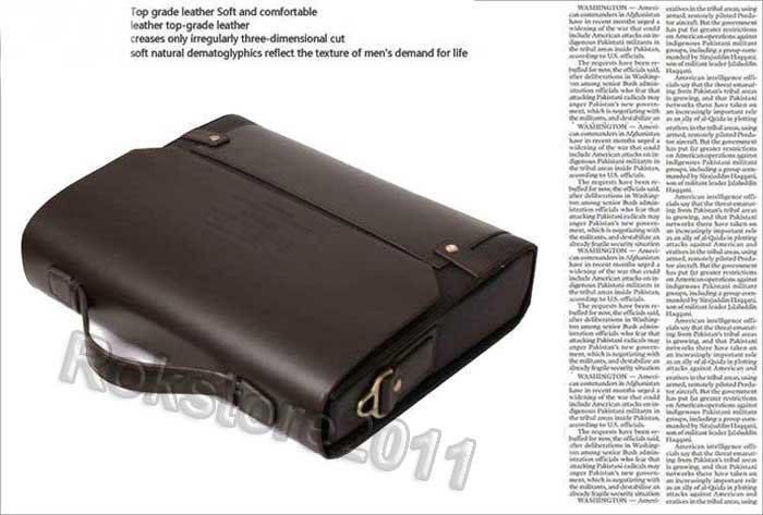 Authentic Moonar Men'S Leather Shoulder Messenger Briefcase Bag Bookbag 36