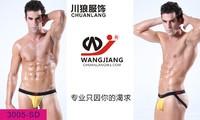 Мужские белье Мужские стринги хлопок белье человек сексуальные стринги с низкой талией стринги мужчин чистой строки белье Красный 3005-sd