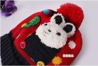 5colors вязаный шарф & шляпа для 6 месяцев-2 лет дети зимой шарф теплее шляпа прекрасный кролик хорошего качества