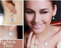 потеряете деньги! высокое качество серебра/кристалл серьги, серебряные серьги, мода ювелирные изделия eh001